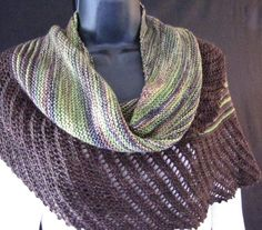 This asymmetrical shawl is shaped perfectly for by SonataCrafts
