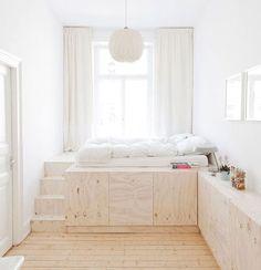 loft bed, storage under