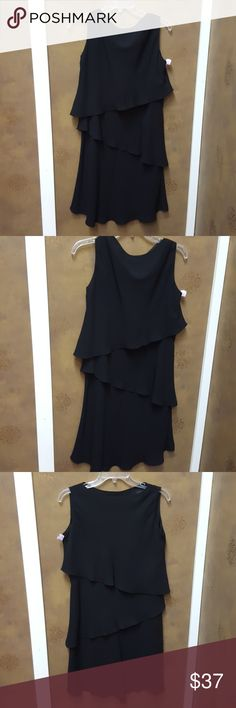 S.L. Fashions Little Black Dress Sleeveless, flowy, little black dress s.l. fashions Dresses