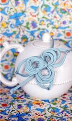 head band.  I also like the teapot and fabric :)