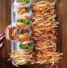 Shake Shack burgers and fries