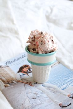 Strawberry Chocolate Chip Ice Cream (paleo friendly)