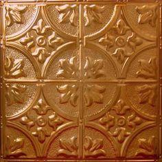 Copper Metal Ceiling Tile Rustic Copper Translucent AT 2  #copper  #metal ceiling tiles #Drop In ceiling tiles #ceiling tiles #Metal Ceiling Tiles # Nail Up # DIY # Do It Your Self # Home Decor # Office Decor