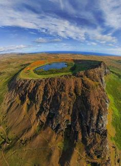 Crater on  Isla de Pascua / Easter Island / Rapa Nui, Chile