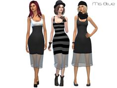 The Sims Resource: Siri dress by Ms Blue • Sims 4 Downloads