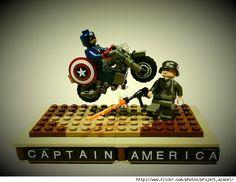 """Captain America"" LEGO"