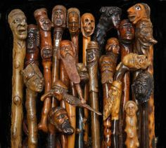 "What a beautiful and interesting collection. I have ""one""  walking stick with a woman's head carving that I keep on display at all times(bh)"