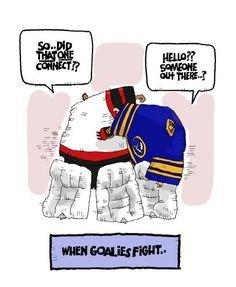 When goalies fight...
