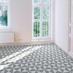 Geometrisch, klar, minimalistisch ist unsere Zementfliese A 204-7