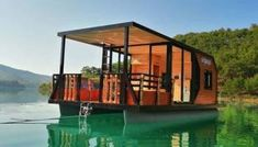 House Boats For Sale, Tiny Houses For Sale, Small Houses, Pontoon Houseboats For Sale, Floating Architecture, Sustainable Architecture, Residential Architecture, Contemporary Architecture, Pontoon Boat Seats