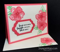 Stampin Up Penned & Painted Beautiful You Encouragement Card Michelle Gleeson Stampinup SU