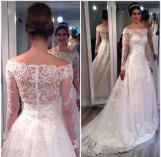 Cheap gown wholesale, Buy Quality dress xxxxl directly from China dress up anime doll Suppliers: Elegant Off The Shoulder Lace Wedding Dress Vestido De Noiva Manga Longa Hand Made Flowers Embroidery Bridal Gowns 2016 White Wedding Gowns, Wedding Dresses 2018, Wedding Dresses Plus Size, Boho Wedding Dress, Wedding Attire, Bridal Dresses, Bridesmaid Dresses, Lace Wedding, Essense Of Australia Wedding Dresses