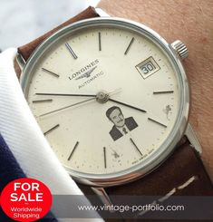 Rare Longines Vintage Automatic Assad Hafez from Syria Dial Retro Watches, Antique Watches, Vintage Watches, Cool Watches, Watches For Men, Longines Watch Men, Longines Hydroconquest, Watch Sale, Buy Watch