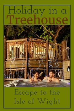 The idyllic Woodside Bay Treehouse is perfect for anyone interested in luxurious tree house holidays in the Isle of Wight in a wonderous woodland setting. Bay Lodge, Isle Of Wight, Darwin, Treehouse, Iowa, Woodland, Holidays, Holidays Events, Treehouses