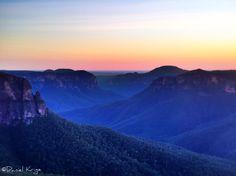 Dawn. Govett's Leap, Blackheath, NSW Australia