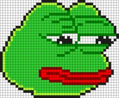Pepe The Frog Perler Bead Pattern | Bead Sprites | Characters Fuse ...