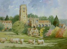 Northleach Church with Sheep