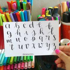No hay descripción de la foto disponible. Journal Fonts, Bullet Journal Notes, Bullet Journal School, Bullet Journal Ideas Pages, Bullet Journal Inspiration, Pretty Notes, Good Notes, Hand Lettering Art, Simple Lettering
