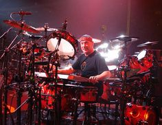 Neil Peart, Rush.  Admire him more for his songwriting than his drumming (although his skills are considerable!)