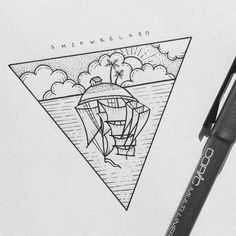 Tbt #tbt #shipwrecked #ship #fineliner #illustration #drawing #tattoo #iblackwork #blackandwhite #sketchbook #linework #stippling