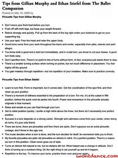 "Pirouette tips from Gillian Murphy & Ethan Stiefel. Two of the best ballet dancers in the world. From the ""Ballet Companio..."