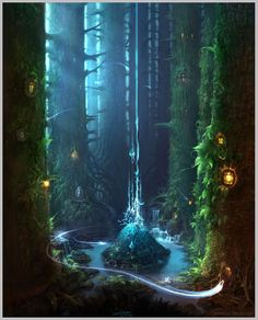 Mystic Glen - I don't know who the artist is.