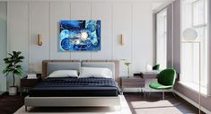 bedroom decor with abstract blue painting Abstract Art For Sale, Blue Abstract Painting, Abstract Portrait, Oil Painting For Sale, Paintings For Sale, Art In Miami, Coastal Art, Colorful Paintings, American Art
