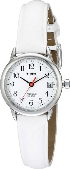 Timex Easy Reader White Leather Strap Silver - Zappos.com Free Shipping BOTH Ways