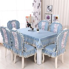 Furniture Covers, Chair Covers, Table Covers, Home Decor Furniture, Diy Home Decor, Kitchen Tablecloths, Kitchen Table Chairs, Parsons Chair Slipcovers, Shabby Chic Kitchen