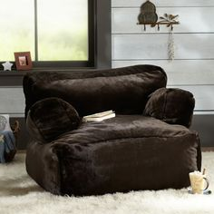 Coffee Luxe Faux Fur Eco Lounger | PBteen
