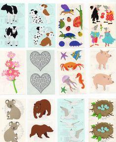 Vintage 1980s Rare Mrs Grossman/'s Dancing Animal Stickers