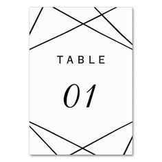 Modern Geometric Contemporary Table Numbers