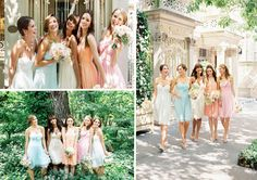 Well Dressed, Bridesmaids Trends - Pastels