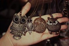 Owl necklaces,<3