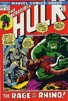 Incredible Hulk 157. The Rhino. #Hulk #Rhino