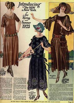 Introducing the new in New York for spring and summer 1923.