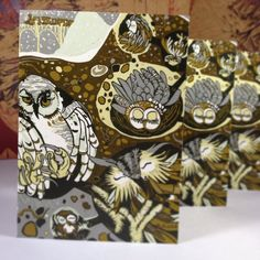 Owl cards! First time I made this image into the greeting card size. by jpopstudios