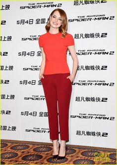 Emma Stone, Andrew Garfield, & Jamie Foxx Are a Super Trio at 'Amazing Spider-Man 2' Beijing Photo Call! | Andrew Garfield, Emma Stone, Jamie Foxx, Spider Man Photos | Just Jared
