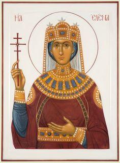 Helena by Yuri Federov Saint Helens, Byzantine Art, Mary Magdalene, Orthodox Christianity, St Helena, Bob Ross, Orthodox Icons, Patron Saints, Religious Art