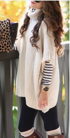 We are so excited to wear our new Fireside Poncho. This gorgeous beige waffle sweater is so soft and we can't get over this amazing quality! The sides are gorgeous and are fully sewed together so you