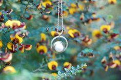 Sterling silver pearl pendant by SilverByKat on Etsy