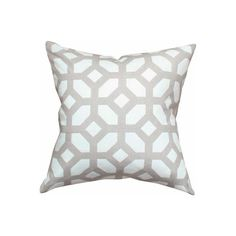 Courtyard, Oyster Pillow by Tonic Living ($56) found on Polyvore featuring home, home decor, throw pillows and geometric throw pillows