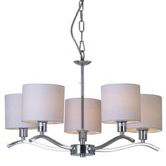LAMPA wisząca CARMEN RLD94103-5 Zumaline żyrandol OPRAWA chrom ecru