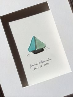 Sea+glass+sail+boat+by+sharon+nowlan+by+PebbleArt+on+Etsy,+$120.00