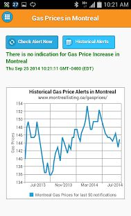Gas Prices Montreal - screenshot thumbnail