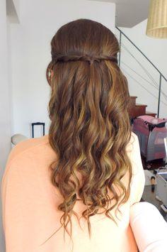 #peinado #romantico #ondas #novia #mediacola #fiorellamancinellimakeup