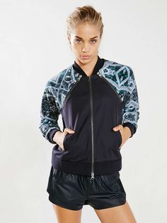 Without Walls 2-Fer Reversible Bomber Jacket -
