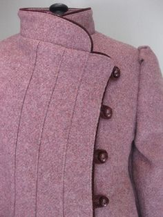 Beautiful Crossover Fronted Wool Coat. Age 5-6