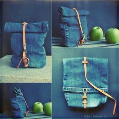 Upcycled denim back pack by Between the lines OHMYFREAKING GOD. I HAVE SOOO MANY OLD PANT LEGS LAYING AROUND AND NO FREAKING IDEA WHAT TO DO WITH THEMMMMMM THIS IS AHHHMAAAAYYYZIIINNGGG