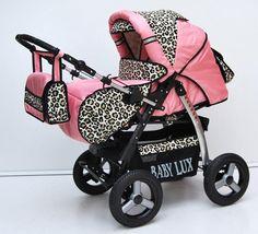 leopard print pram
